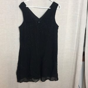 Madewell black loose fitting cocktail dress